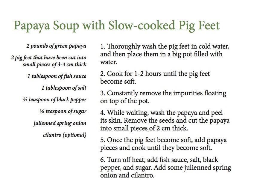 Papaya Soup English