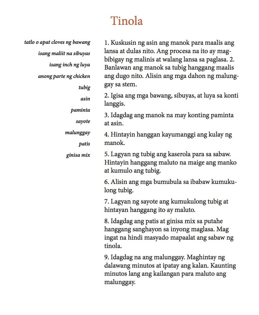 Tinola Filipino
